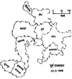 पूर्व राजस्थान का निर्माण